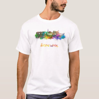 Alexandria skyline in watercolor T-Shirt