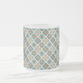Alexandria Tiles Frosted Glass Coffee Mug