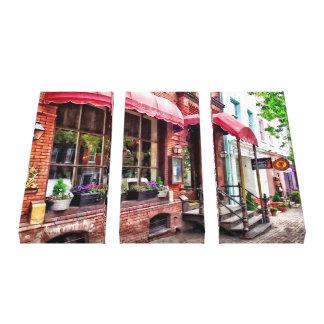 Alexandria VA - Red Awnings on King Street Canvas Print