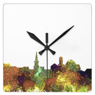 Alexandria, Viirginia Skyline - SG - Safari Buff Square Wall Clock