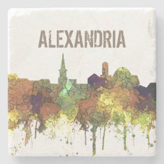 Alexandria, Viirginia Skyline - SG - Safari Buff Stone Coaster