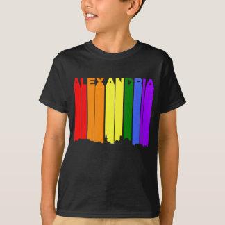 Alexandria Virginia Gay Pride Rainbow Skyline T-Shirt