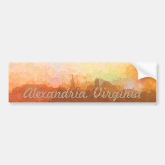 Alexandria Virginia Skyline IN CLOUDS Bumper Sticker