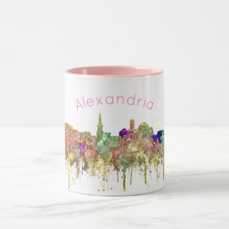 Alexandria, Virginia Skyline - Mugs