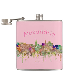 Alexandria,Virginia Skyline SG - Faded Glory Hip Flask