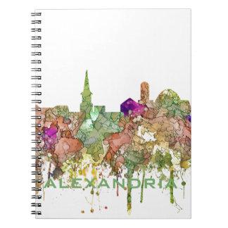 Alexandria,Virginia Skyline SG - Faded Glory Notebook