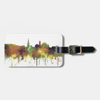 Alexandria, Virginia Skyline - SG - Safari Buff Luggage Tag