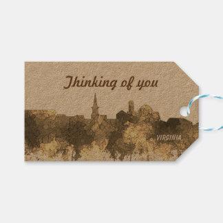 Alexandria, Virginia Skyline - SG Sepia 2 Gift Tags