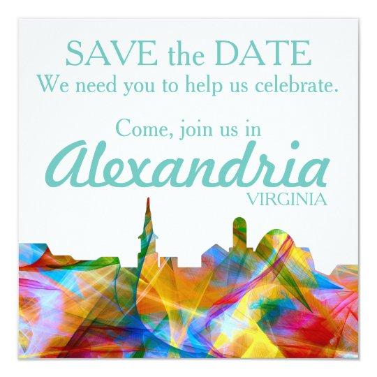 ALEXANDRIA, VIRGINIA SKYLINE VIBRANCE - CARD