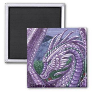 Alexandrite Dragon Square Magnet