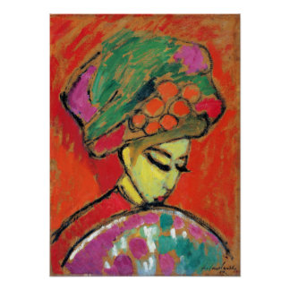 Alexei Jawlensky Young Girl with a Flowered Hat Poster