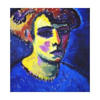 Alexej von Jawlensky Frauenkopf (Head of a Woman) Canvas Print