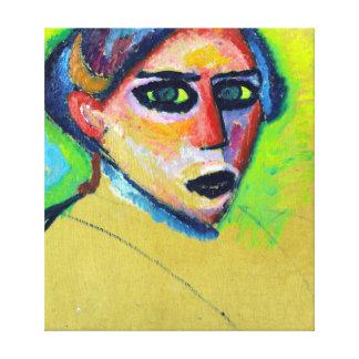 Alexej von Jawlensky Woman's Face Canvas Print