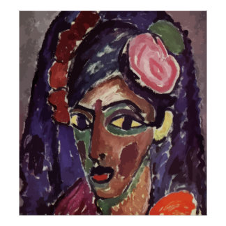 Alexey von Jawlensky - Head of a Girl (Vector) Poster
