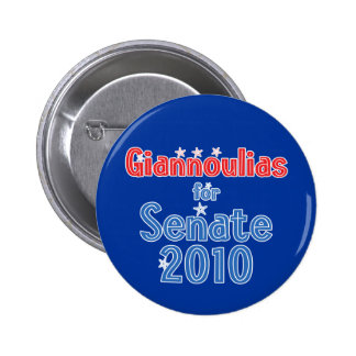 Alexi Giannoulias for Senate 2010 Star Design 2 Inch Round Button