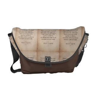 Alexis de Tocqueville Quote Courier Bag
