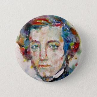 alexis de tocqueville - watercolor portrait 2 inch round button