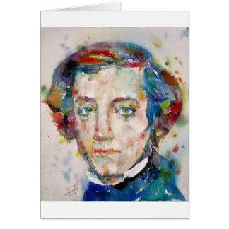 alexis de tocqueville - watercolor portrait card