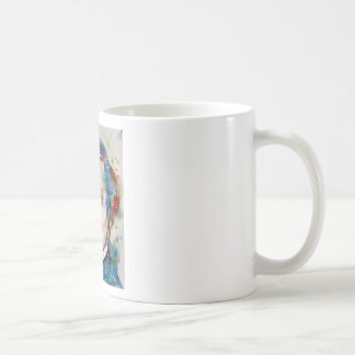 alexis de tocqueville - watercolor portrait coffee mug