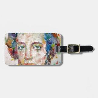 alexis de tocqueville - watercolor portrait luggage tag