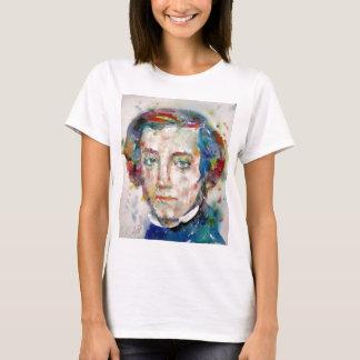alexis de tocqueville - watercolor portrait T-Shirt