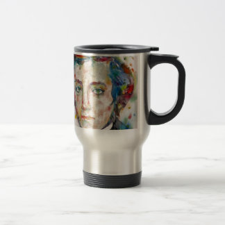 alexis de tocqueville - watercolor portrait travel mug