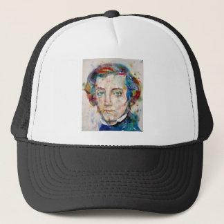 alexis de tocqueville - watercolor portrait trucker hat