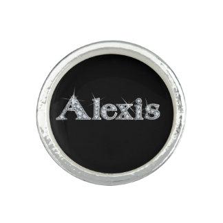 "Alexis Faux-""Diamond Bling"" Photo Rings"