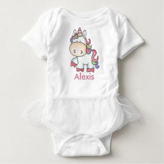 Alexis's Personalized Unicorn Gifts Baby Bodysuit