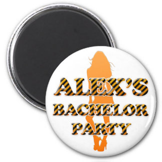 Alex's Bachelor Party 2 Inch Round Magnet