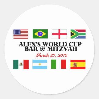 alex's-logo classic round sticker