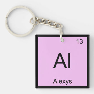 Alexys Name Chemistry Element Periodic Table Single-Sided Square Acrylic Keychain