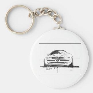 Alfa Romeo 156 Basic Round Button Keychain