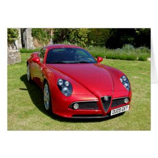 Alfa Romeo 8C Competizione Sports Coupe Card