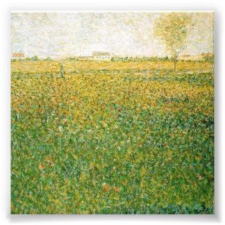 Alfalfa Fields Saint Denis by Georges Seurat Photo Print