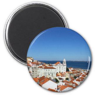 Alfama, Lisbon, Portugal 2 Inch Round Magnet