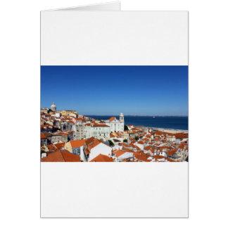 Alfama, Lisbon, Portugal Card