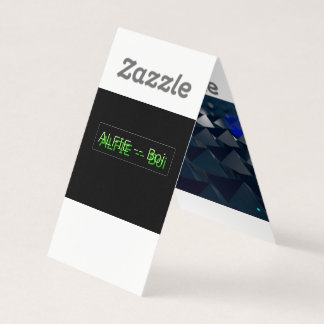 Alfie 123 -- Buisness Card (ONLY FOR THE 123 memb)