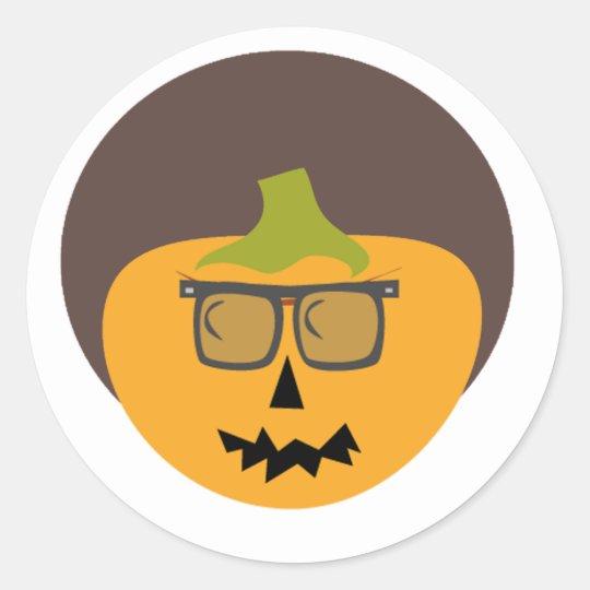 Alfie Afro Halloween Button Classic Round Sticker