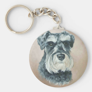 Alfie - miniature schnauzer keychain