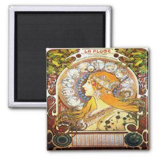 Alfons Mucha 1896 Zodiac Magnet