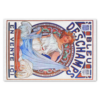 Alfons Mucha 1897 Bleu Deschamps Tissue Paper