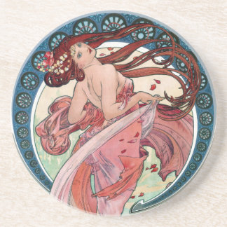 Alfons Mucha 1898 Dance Coaster