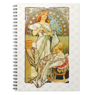 Alfons Mucha 1898 Food for Infants Notebook