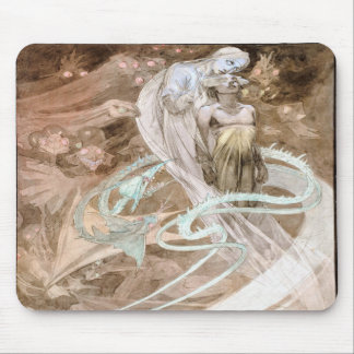 Alfons Mucha 1899 Le Pater Mouse Pad