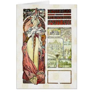 Alfons Mucha 1900 Austrian Pavilion Card