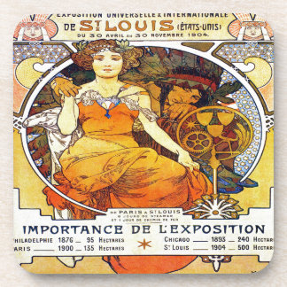 Alfons Mucha 1903 Exposition Universelle Coaster