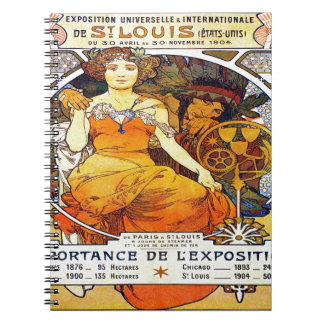 Alfons Mucha 1903 Exposition Universelle Spiral Notebook