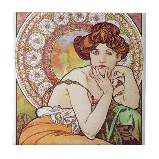 Alfons Mucha Art Tile