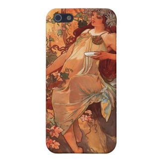 Alfons Mucha Autumn Art Nouveau iPhone Case Case For iPhone 5/5S